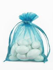 Turquoise Organza Bags