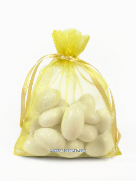 Yellow Organza Bags