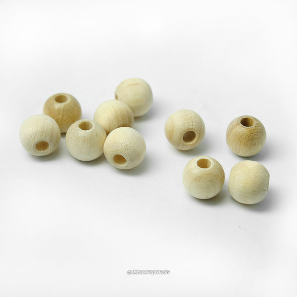 Natural Wood Round Beads 8MM