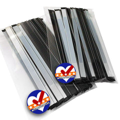 "100 Self Adhesive Tin Ties. Use for DIY Face Masks as Nose Bars, 5.5"" Long, 5/16"" Wide. Made in the USA, Multiple Colors Available"