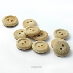 Natural Wood Buttons 5/8 Inch