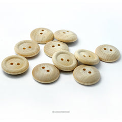 Natural Wood Buttons 3/4Inch