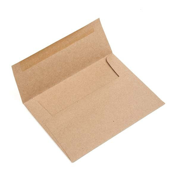 A1 Size 5 1/8 x 3 5/8 Inch Brown Bag Kraft Envelopes, Set of 25 for Handmade Cards