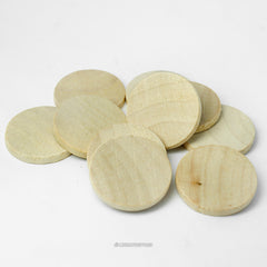 Natural Wood Circle Cutouts 1 Inch Wide 1/8 Inch Thick
