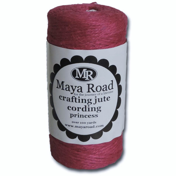 Princess Pink Jute Twine Craft Cording 100 Yd Spool by Maya Road