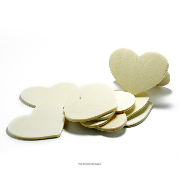 Wood Heart Cut Outs - 4 1/2 inches wide, 3 1/4 inches tall, 1/8 inch thick