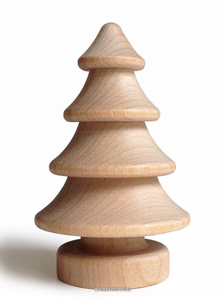 5 Natural Wood 3D Christmas Trees, to Embellish for Holiday Crafts (2.75 Inch)
