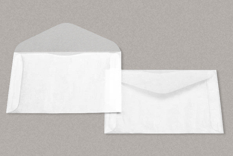 100 glassine 8 envelopes 6 5 8 x 4 1 2 inches side opening with