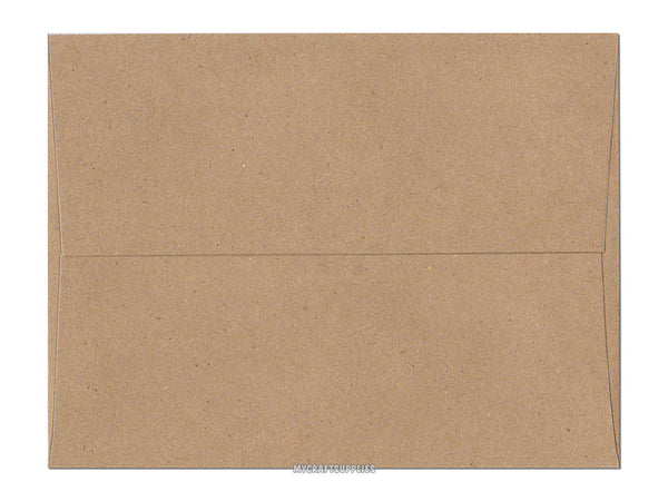 A2 Size 5 3/4 x 4 3/8 Inch Brown Bag Kraft Envelopes, Set of 25 for Handmade Cards