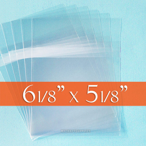 Many Sizes: Cello Bags with Protective (Self-)Adhesive on Body; Resealable
