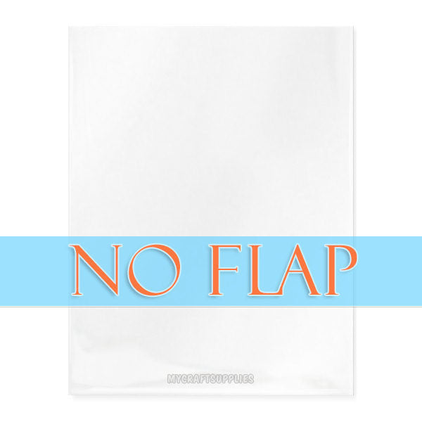 Various Sizes: Cello Bags With Open Top; No Flap, No Adhesive (Pack of 100)