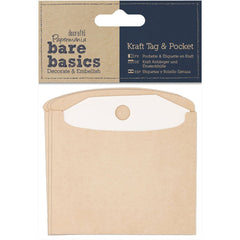 Papermania: Kraft Paper Pockets with Tags, 3 x 3 Inches