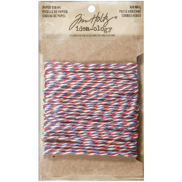Tim Holtz Idea-Ology Airmail Paper String Twist Twine, 10 Yards