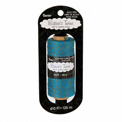 Darice Turquoise and Gray Bakers Twine; 410 Feet, 2-Ply Cotton