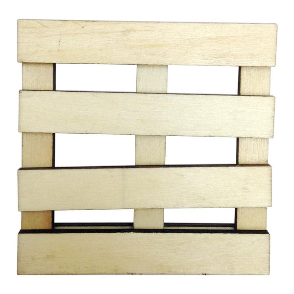 Art-C Mini Wood Slatted Pallet Art Surface; 3 x 3 Inches, for Mixed Media
