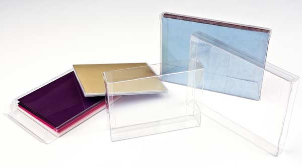 5 Crystal Clear Boxes 5 3/8 x 5/8 x 7 3/8 Inches for Cards, Jewelry, Small Gifts, Linens, Etc