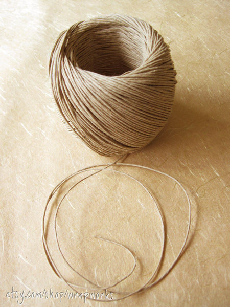 Natural Hemp Twine Cord, 20 lb strength 1mm diameter - 400 ft roll