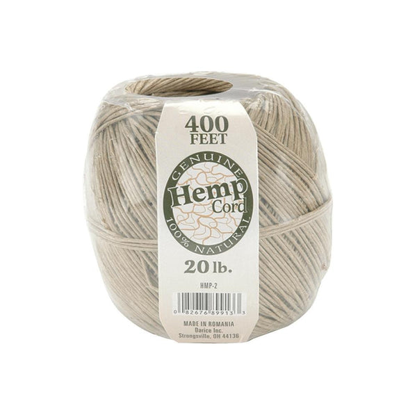 10 Packs of 400 Feet Hemp Twine Spool - 20lb Strength