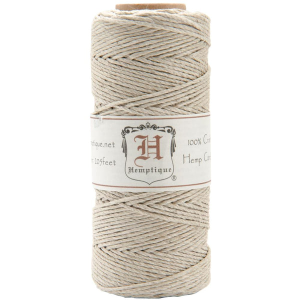 Hemptique Ecru / Natural 20lb Hemp Cord / Twine, 205 Feet