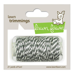 Lawn Fawn: Cloudy Gray and White Color Hemp Cord Twine - 21 Yards