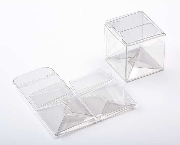 25 Premium Crystal Clear Mini CUBE Boxes 1 1/2 Inches Square for Gifts, Retail Packaging, Favors
