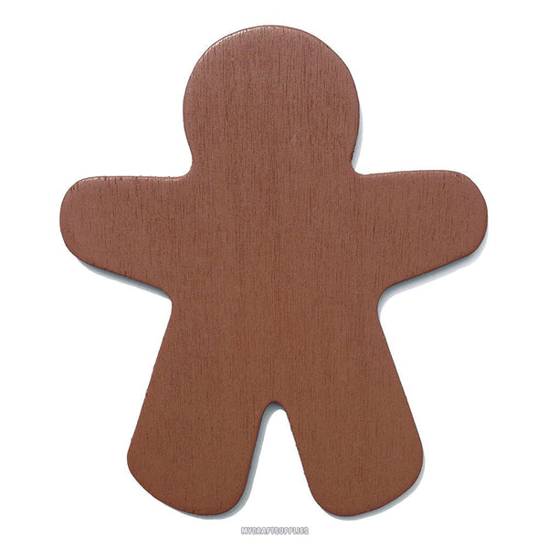 10 Brown Wood Gingerbread Men, Ready to Embellish for Holiday Crafts