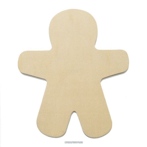 10 Medium Unfinished Wood Gingerbread Men, Ready to Embellish for Holiday Crafts