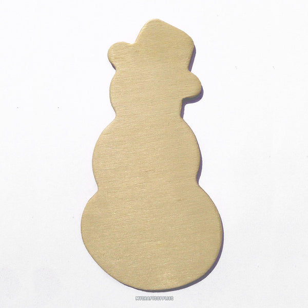 10 Unfinished Wood Snowmen Cut Outs, 4 Inches, Ready to Embellish for Holiday Crafts