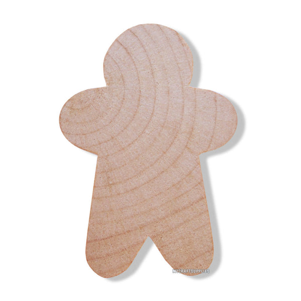 10 Little Unfinished Wood Narrow Style Gingerbread Men Cut-Outs 1 3/4 Inches - Ready to Embellish for Holiday Crafts
