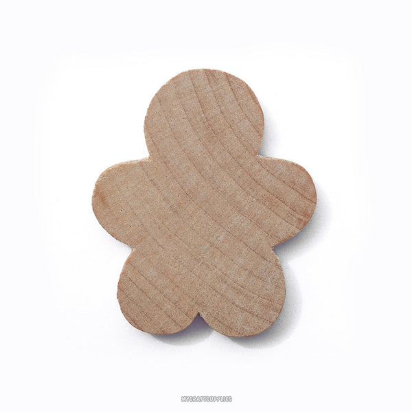 10 Little Unfinished Wood Gingerbread Men Cut-Outs 1 5/8 Inches - Ready to Embellish for Holiday Crafts