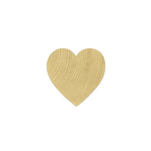 100 Solid Wood Hearts, 1/2 Inch Wide, 1/8 Inch Thick - Natural Wooden Hearts