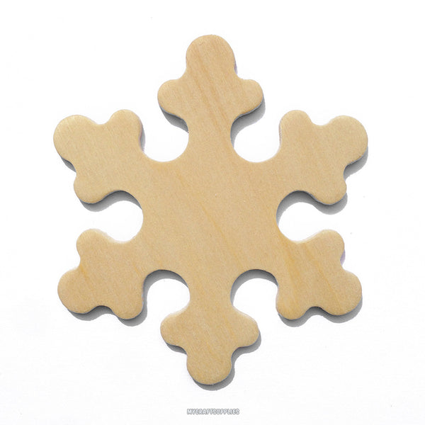 25 Natural Wood Snowflakes, Ready to Embellish for Holiday Crafts (3 Inches)