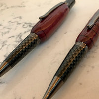 Hand-Crafted Purple Heart Wood Pen, Pencil, & Set