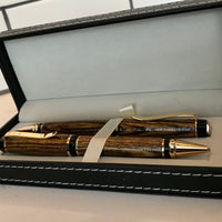 Hand-Crafted African Bocote Wood Pen, Pencil, & Set