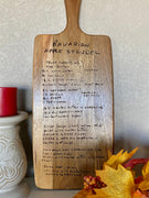Heirloom Recipe Cutting Board