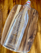 Heirloom Recipe Etched Bottle