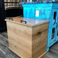White Oak Refuse & Recycle Bin