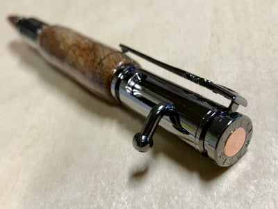 Hand-crafted .30 Caliber Bolt Action Pen, Pencil, Or Set