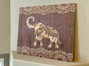 "Custom Elephant Wall Art 46"" x 38"""