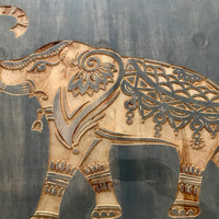 "Custom Elephant Wall Art With Epoxy Resin Finish 36"" x 30"""