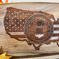 United States Armed Forces Engraved Charcuterie Board