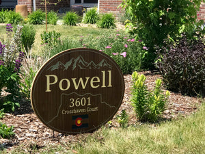 Premier Personalized Address Plaque