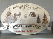 Personalized Family Camp Sign