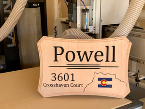 Personalized Address Plaque