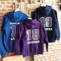 Leavers hoodies printed