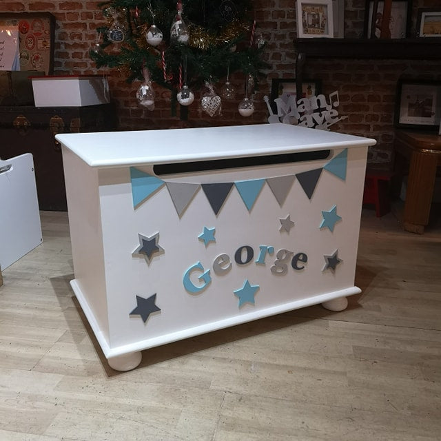 Handmade personalised toy box in Dover Kent