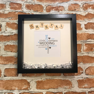 Crystal 15 Year Anniversary Frame with Word Cloud