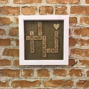 Scrabble Family Frame