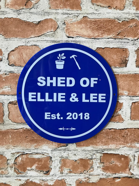 Blue Heritage Personalised Gift Plaque