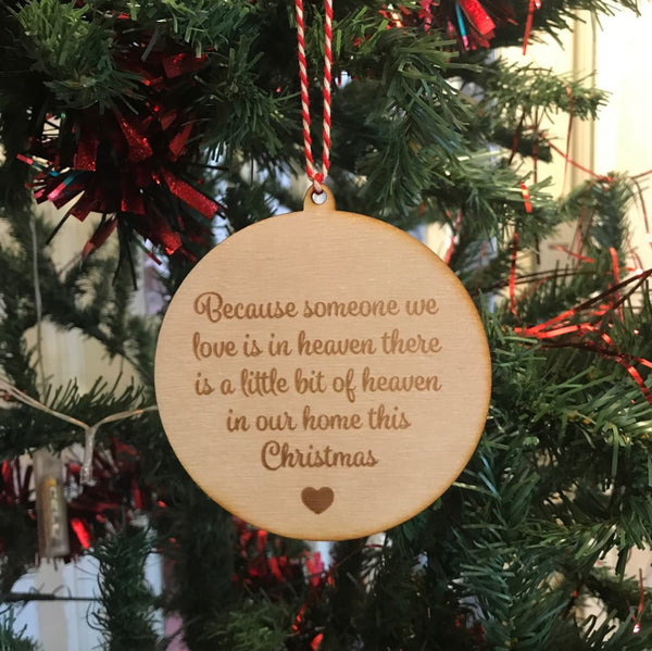 Wooden Christmas Bauble Engraved